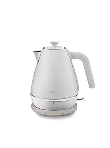 De'Longhi Distinta Moments KBIN2001.W - Hervidor de agua (1,7 L, filtro antical extraíble y lavable, compatible con Nespresso Gran Lattissima EN650.W), color blanco
