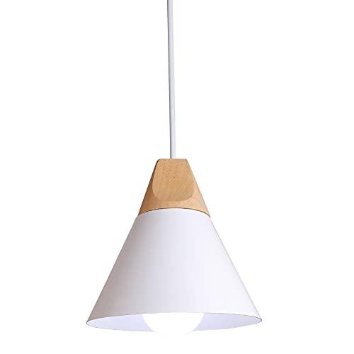 E27 Lámpara Colgante Nórdico Lampara de Techo LED Iluminación de Lampara Moderna 60W 220V (Blanco)