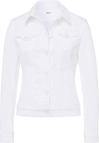 BRAX Damen Style Miami PPT Coloured Denim Uni Jeansjacke, White, XX-Large (Herstellergröße: 44)