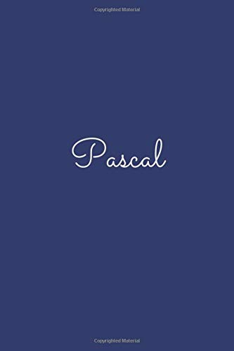Pascal: notebook with the name on the cover, elegant, discreet, official notebook for notes, dot grid notebook,