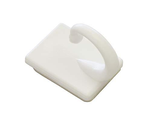 GARDINIA Raffhaken selbstklebend, 2 Stück, Zum Raffen und Drapieren von leichten Gardinenstoffen, Länge: 2,5 cm, Kunststoff, Weiß