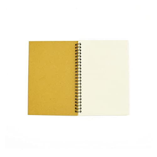 LQHZ computadora portátil Cuaderno Spiral Sketchbook Graffiti Cuaderno para Suministros Escolares Tamaño A5- A6-100 Páginas Kraft Papel Cover Página en Exquisita artesanía, Conveniente y práctica.