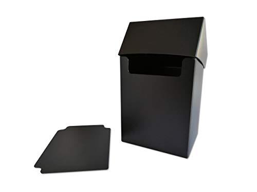 Arkero-G® 80+ Deck Box - Schwarz / Black - für über 100 Karten Sammelkarten Case inkl. Kartentrenner