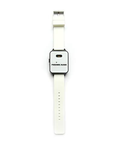 120dB Alarm-Armband, Alarmsirene und Blitzlicht am Handgelenk, im Notfall mit Fingertipp aktiviert (Weiss)