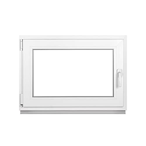 Premium Kellerfenster Von Fenstiger - Kunststofffenster Weiß BxH 600 x 400 mm - Garagenfenster/Gartenhaus Fenster BxH 60 x 40 cm 2-fach Verglast - Din Links-Funktion Dreh Kipp Fenster-Alle Größen