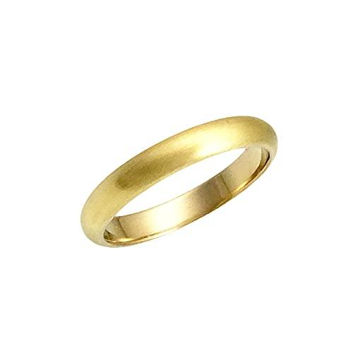 K18リング 甲丸3mm5gヘアーライン オーダー 結婚指輪 高密度 (22号)