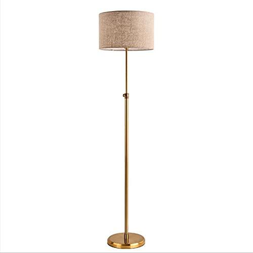 LIPETLI Lámpara de pie, adoptando la Base de Pantalla de Lino y la Base de Hierro, se Puede Utilizar en el Dormitorio, una Pantalla clásica Sencilla para Sala de Estar, Oficina, Dormitorio, Estudio