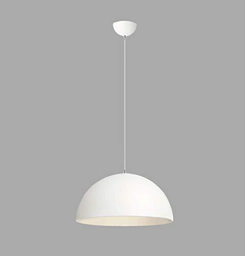 RODDIE - Lámpara colgante de estilo escandinavo, diámetro de 39 cm, altura máxima de 85 cm, LED o bombilla, bonito aspecto de aluminio mate, E27, metal, de aluminio, color blanco