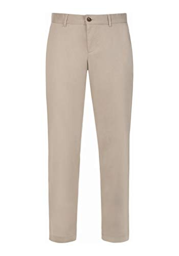 ALBERTO Regular Slim Fit Hose Material-Mix beige Größe W34 L32