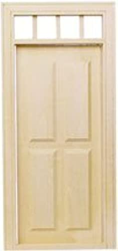 Dollhouse Miniature Four-Panel Traditional Door by Houseworks, Ltd.