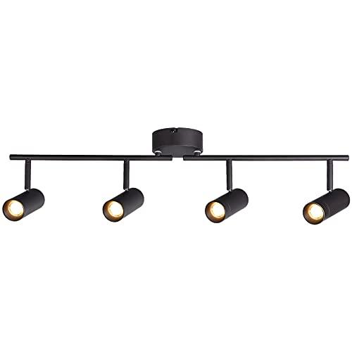 LEONLITE 28W Dimmable 4-Light LED Track Lighting Kit, Adjustable Ceiling Spotlight Fixture, CRI 90, 1800lm, ETL Listed, 2700K Soft White, Directional Accent Spot Light for Kitchen