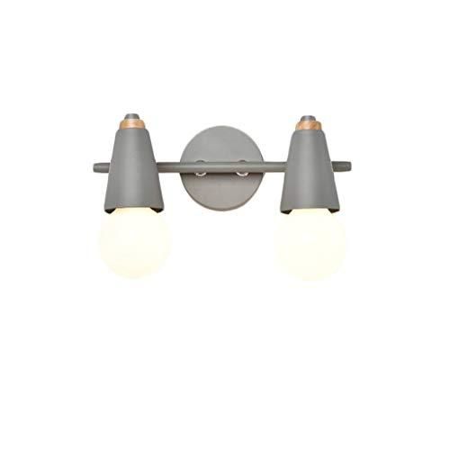 Moderne minimalistische en moderne wandlamp voor kasten met spiegel met LED-verlichting voor badkamer (kleur: C)