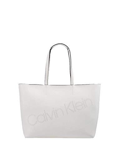 Calvin Klein Ck Must Psp20 Med Shopper P - Borse Tote Donna, Bianco...