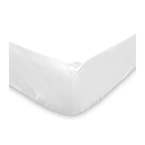 SOLEIL D'OCRE Protege-matelas molleton 160x200 cm blanc