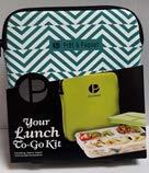 Pret a Paquet Bento Lunchbox für Kinder/Erwachsene, Brotdose 3 Fächer, Hermetisch, Isolierte Tasche, Warme/Kalte Mahlzeiten, Mikrowelle, Geschirrspüler, Gefrierschrank, BPA frei