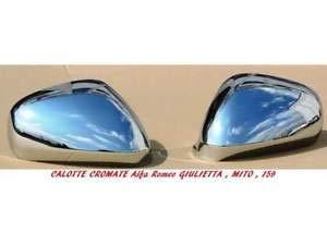 AV RICAMBI coppia calotte specchio retrovisore cromate lucide destro e sinistro per MITO GIULIETTA 159