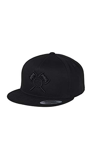 barTbaren Snapback Cap schwarz - Black in Black - Unisex - Axt Logo - Damen und Herren - Snapback Black - Snap Cap Herren - Capi - Cappi Herren