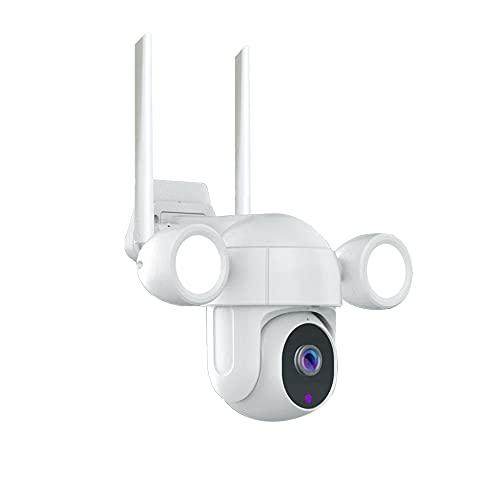 Cámara de seguridad solar inalámbrica al aire libre WiFi cámara de vigilancia, 1080P Home IP Cámara con visión nocturna, detección de movimiento, audio de 2 vías, SD/almacenamiento en la nube, Tuya