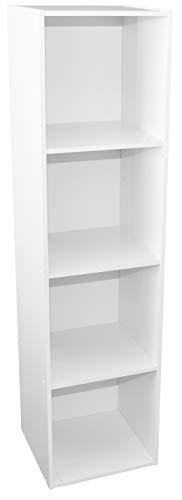 Alsapan - Estantería modulable con 4 Cubos, 34,9 x 33,7 x 136,1 cm