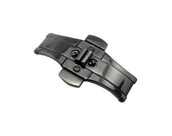Uhrenarmband für Emporio Armani AR1451 Stahl schwarz 22 mm Schließe Schnalle
