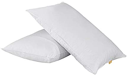 puredown® Almohadas de Plumas y Plumón de Ganso 48x74 cm Funda de 100% Algodón Anti-ácaros Transpirables Juegos de 2