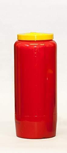 St. Jakob´s 20 Ewiglichtölkerzen, 100% reines Öl, Grabkerzen, Grablichter, Öllichter, 7 Tage, Farbe: rot und weiß (Rot) für Grablaterne, Grablampe, Grableuchte zur Grabgestaltung