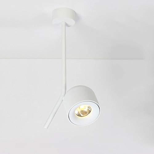 7W LED Loft Industrial Iron Spotlight Jagd Deckenleuchte Wandleuchte Lampe für Hall Room Pendelleuchten Kronleuchter Beleuchtung Innenbeleuchtung XYJGWXDD (Color : White-Warm light)