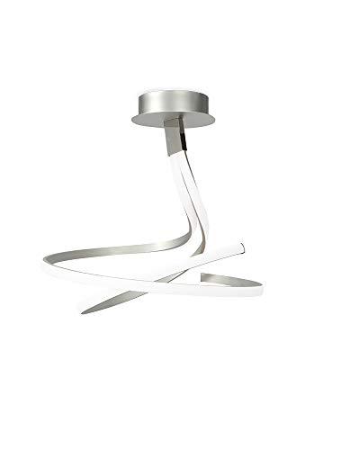 Mantra Iluminación Nur Plata Cromo Lámpara de Techo, Aluminio, 52.5 cm