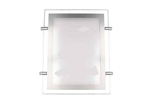 Panel publicitario acrílico luminoso LED fino A3 vertical Expositor con cable para escaparates, tiendas, bares, agencias inmobiliarias