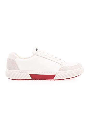 Prada Luxury Fashion Linea Rossa Herren 4E34673OF1F0KMG Weiss Leder Sneakers | Frühling Sommer 20