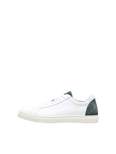 SELECTED HOMME Male Sneakers Ledermix 40Rain Forest