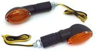 MINI MOTORCYCLE TURN SIGNALS Universal Polished Amber Lens Dual Filament Harley