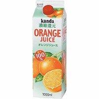神田 オレンジジュース パック(果汁100%) 1L × 12本