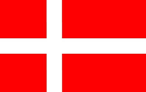 My Planet - Bandera de Dinamarca, grande, 152,4 x 91,4 cm, alta calidad para seguidores de Dinamarca, bandera decorativa para aficionados