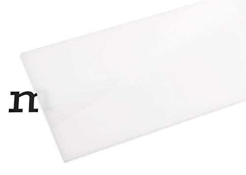 PLEXIGLAS® GS weiß (milchig), vielfältig nutzbares und bruchfestes Marken Acrylglas für Lichtobjekte etc, 3 mm dicke PLEXIGLAS® GS Platte in 12 x 25 cm, milchig-weiß (WH02)