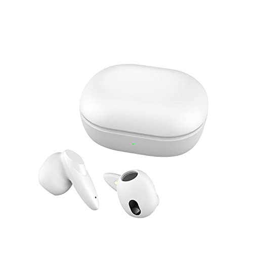 Qewrt Wireless Stereo Earphone ANC Active Noise Cancelling Dual Mic Gaming Mode Bluetooth-Compatible Earbuds White