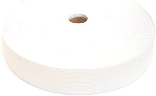 25 Meter Gummiband, 30 mm, weiß