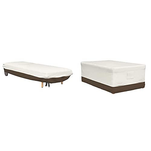 Amazon Basics Housse de Protection pour Table 180 cm & Housse pour Chaise Longue