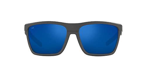 Costa Del Mar Men's Pargo Polarized Pilot Sunglasses, Net Dark Grey/Grey Blue Mirrored 580G, 61mm