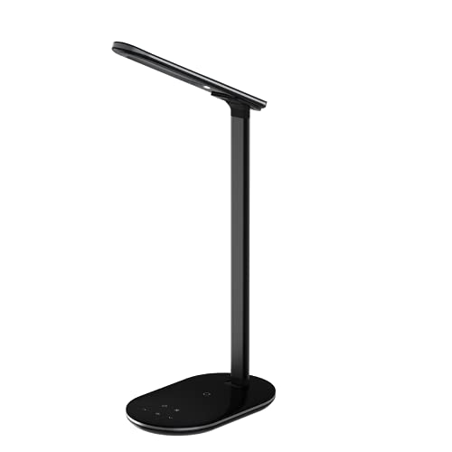 CHENXTT Lámpara De Mesa Carga Usb Inalámbrica Led Lámpara De Protección Ocular Lámpara De Escritorio Inteligente Para Estudio De Oficina Dormitorio negro 7.3*4.8*1.3in