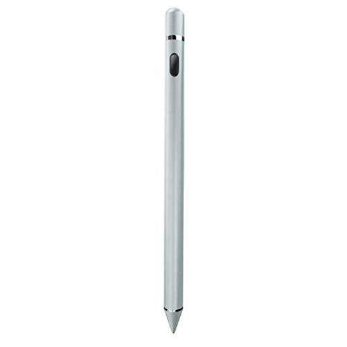 Stylus Pencil Compatible for Apple,Active Stylus Pen for Touch Screens, Rechargeable 1.5mm Fine Point Smart Pencil Compatible for iPhone iPad Android and Most Tablets on Touchscreen Devices (Silver)