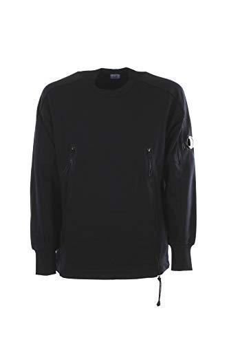 C.P. Company Felpa Diagonal Fleece Front Zip Sweat Uomo, Girocollo, Cotone, Blu (M)
