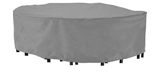 HBCOLLECTION Housse pour Salon de Jardin rectangulaire 270cm Premium Polyester Gris avec trepied