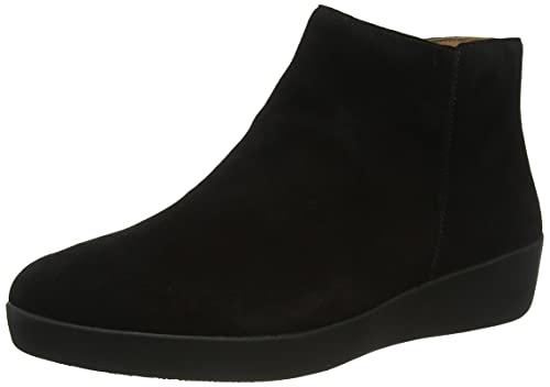 Fitflop Sumi damskie botki zamszowe moda, Czarny - 42 EU