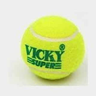 Hard & Heavy Cricket Tennis Balls by Vicky (Pack of 6)