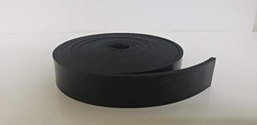 "Neoprene Rubber Strip.250"" (1/4"") Thick x 2"" Wide x 10' Long - Commercial Grade 65A, Smooth Finish, Solid Rubber, Perfect for Weather Stripping, Gasket, Costume & DIY Projects …"