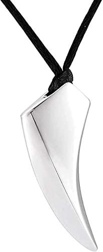 Yiffshunl Collar Hombre Collar Colgante para Plata Forma Cuerno geometría Punk Collares Colgante de Recuerdo Kit de Embudo para mamá papá Mujer Hombre Perro t Gattocollana Regalo para r