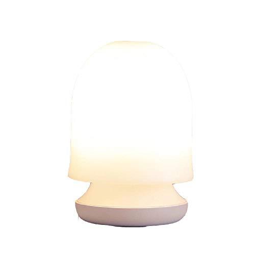 love enjoy Lampe de Table de Chevet Rechargeable Minimaliste USB Night Light Dimmable Chevet Rechargeable LED Table Lamp Pat avec Lampe de Sommeil Rétractable,Pink