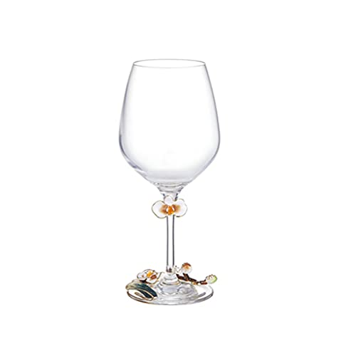 FEANG Wine Glasses Crystal Wine Glasses Set Of 2, Classic Rounded Bowl Stemmed All-purpose Wine Glass Set, Housewarming/Anniversary/Wine Gift Set Champagne Glasses (Color : 370ML)
