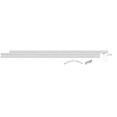 Paulmann URail Basis Set 3x1m Schiene, Metall, Weiß matt, max 1000W, 230V, Schienensystem, Deckenlampe, Deckenleuchte